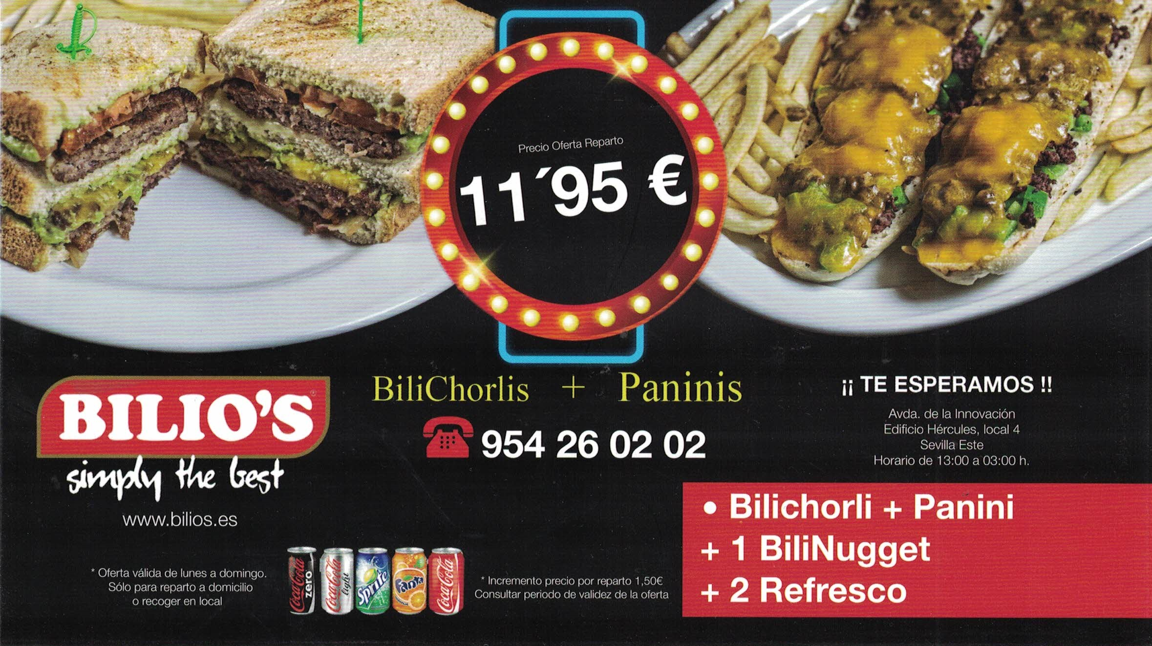 MENU BILICHORLI 11,95